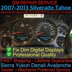 2007 10 Gm Silverado Tahoe Avalanche Speedometer Gauge Cluster Display Repair