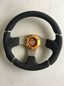 Car Mugen Racing Steering Wheel Include Horn Button 320mm Black 4