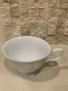 Vintage Plain White Stylish Tea Cup