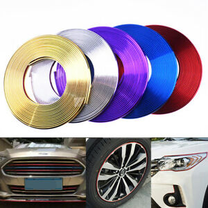 Universal Chrome Car Wheel Rim Edge Protector Ring Tire Guard Line Strip Sticker