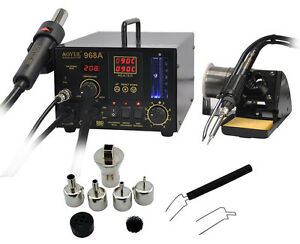 Aoyue 968a Smd smt 3 In1 Hot Air solder Station smoking Device Repair 220v