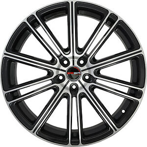 4 Gwg Wheels 22 Inch Black Machined Flow Rims Fits Chevy Impala Ltz 2014 2018