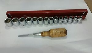 Mac Tools 14 Piece 3 8 Drive Metric Socket Set With Tray nos