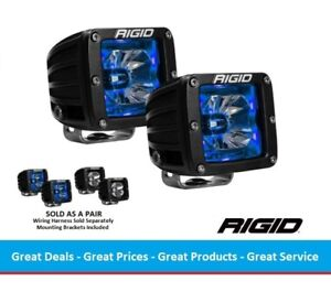 Rigid Industries Radiance Pod Series With Blue Back Light Pair
