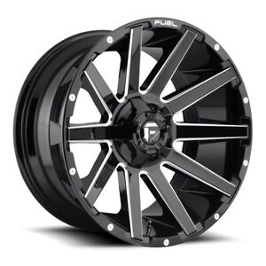 Fuel Contra D615 Rim 24x14 8x180 Offset 75 Gloss Black Milled quantity Of 1