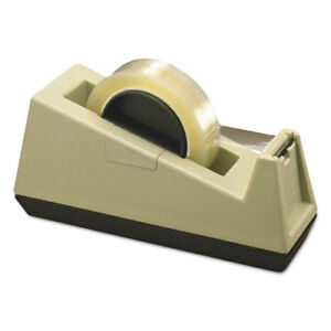 Heavy duty Tape Dispenser Holds 3 Core Beige Mmmc25