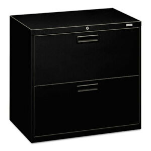 2 drawer Lateral Filing Cabinet 30 x19 1 4 x28 3 8 Black Hon572lp