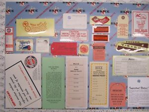 1953 Buick Super Engine Interior Decal tag Kit Set Of 22