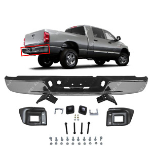 Chrome Steel Rear Step Bumper Assembly For 2004 2008 Dodge Ram 1500 2500 3500