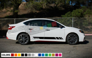 Decal Sticker Stripes Kit For Nissan Sentra Lowering Sport Turbo Hood Seat Cover