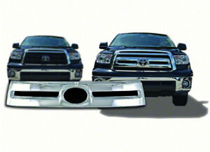 New Chrome Grille Grill Overlay Insert For 2010 2013 Toyota Tundra Base