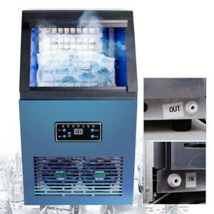 Stainless Steel Countertop Ice Maker Compact Cube Icemaker Machine 110lbs day