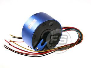 New 6wires 380v Ac dc 10a 25 4mm Dia Metal Capsule Conductors Slip Ring Blue