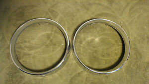 2 Right Hand 1968 Mercury Monterey Chrome Headlight Rings Trim Mount C6mb 130