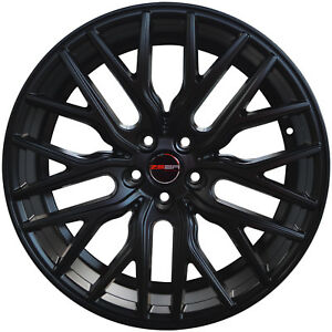 4 Gwg Wheels 20 Inch Staggered Matte Black Flare Rims Fits Ford Mustang V6 2015