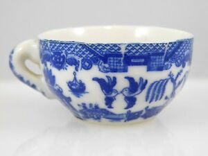 Vintage Miniature China Teacup Blue And White Design