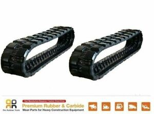 2pc Rubber Track 16 Wide 400x86x49 Bobcat T550 T590 Skid Steer