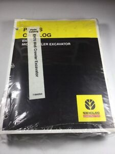 New Holland Eh70 Excavator Parts Catalog Manual
