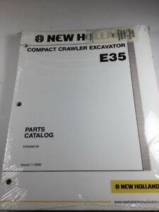 New Holland E35 Excavator Parts Catalog Manual