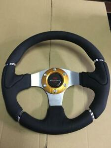 Car Mugen Racing Steering Wheel Include Horn Button 320mm Black 9