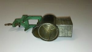 Primative Lorraine Metal Co Nutmeg Grinder Table Mounted Country Kitchen Tool