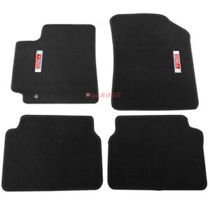 For 09 11 Toyota Corolla 4dr Floor Mats Carpet Nylon Black Metal Trd Emblem