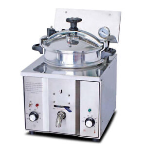 16l Electric Pressure Fryer 2 4kw Cooking Countertop 50 200 c Timer Fish Chicken