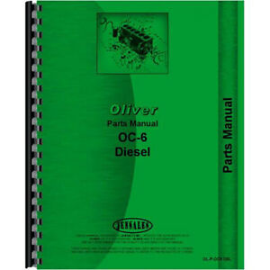 Parts Manual Replacement Made For Oliver Oc 6 Crawler