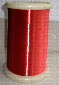 Polyurethane Enameled Copper Wire 36 Awg Red Magnet Wire 2uew 155 0 12mm A36e Lw