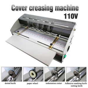 Us Electric Cover Creasing Machine Card Folding Paper Dotted Line Cutting 110v