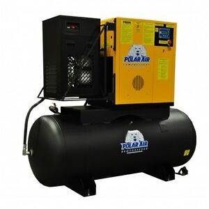Polar Air 20hp 3 Phase 240 Gallon Variable Speed Drive Swingarm