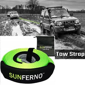 Recovery Tow Strap Heavy Duty Truck Jeep Towing Emergency Winch Rope 35000lb