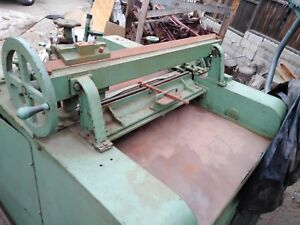 Buss Planer 30 Inch Plate Industrial Woodworking Machine