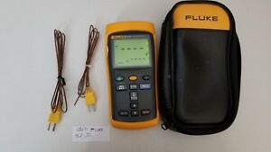 Fluke 52 Ii Dual input Digital Thermometer With One Probe Tp 224226