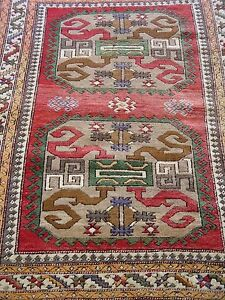4 4 X 6 2 Gorgeous Caucasian Hand Knotted 100 Wool Oriental Rug