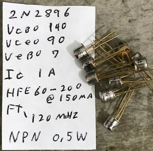 55 Motorola 2n2896 Npn Silicon Transistors To 18 Gold Plated