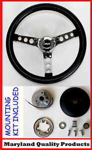 1967 Camaro Black And Chrome Steering Wheel Camaro Center Cap 14 1 2