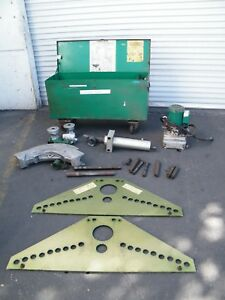 Greenlee Hydraulic Pipe Conduit Bender Model 885 940 Pump 3 4 Dies Box Ram