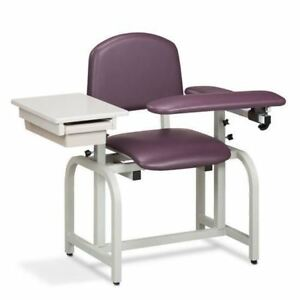 Clinton Lab X Series Blood Drawing Chair With Padded Flip Arm And Drawer
