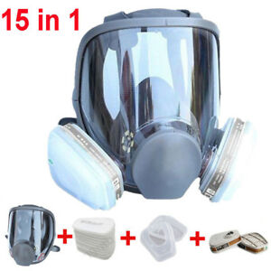 Chemicals 15 In 1 Suit F 3m 6800 Facepiece Respirator Full Face Gas Mask