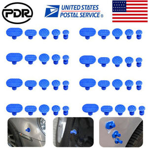 40pc Paintless Dent Repair Pdr Glue Pulling Tabs For All Puller Hail Removal Kit