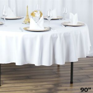 6 Round 90 Premium Polyester Tablecloths Wedding Catering Kitchen Home Supplies