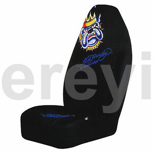 1 Ed Hardy King Bulldog Car Seat Cover Auto Truck Mean Pack Leader Dog Lover New