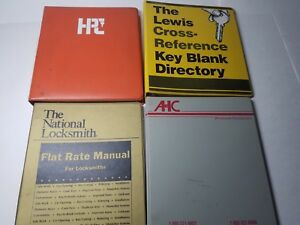 Lot Of 4 Locksmith Flat Rate Manual Key Blank Directory Hpc Depth Spacing Book