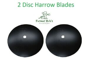 2 Of 18 Disc Harrow Blades Dual punched 1 1 1 8 Square 7 Gauge 4 5mm