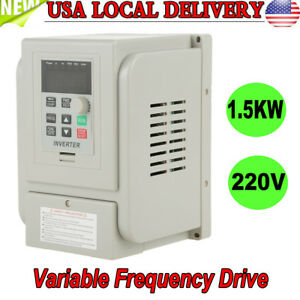 Ac220v 8a 1 5kw Vfd Variable Frequency Drive Inverter Speed Controller Converter