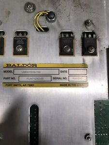 Baldor Servo Drive Tree 425 Cnc Mill Um3015hs 150 Fuh7123c 00 Used With Dynapath