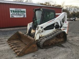 2013 Bobcat T650 Tracked Skid Steer Loader W Cab