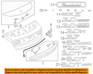 Lincoln Ford Oem 13 18 Mkz Trunk Lid seal Dp5z99021a46b