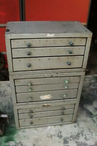 Huot Drill Index Cabinets 3 Cabinets With Some Drill Bits Included